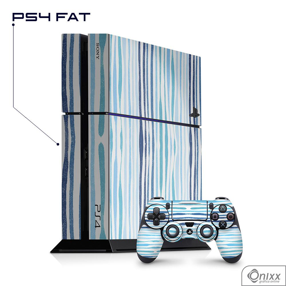 Skin Game Adesiva PS4 FAT Blue Stripes
