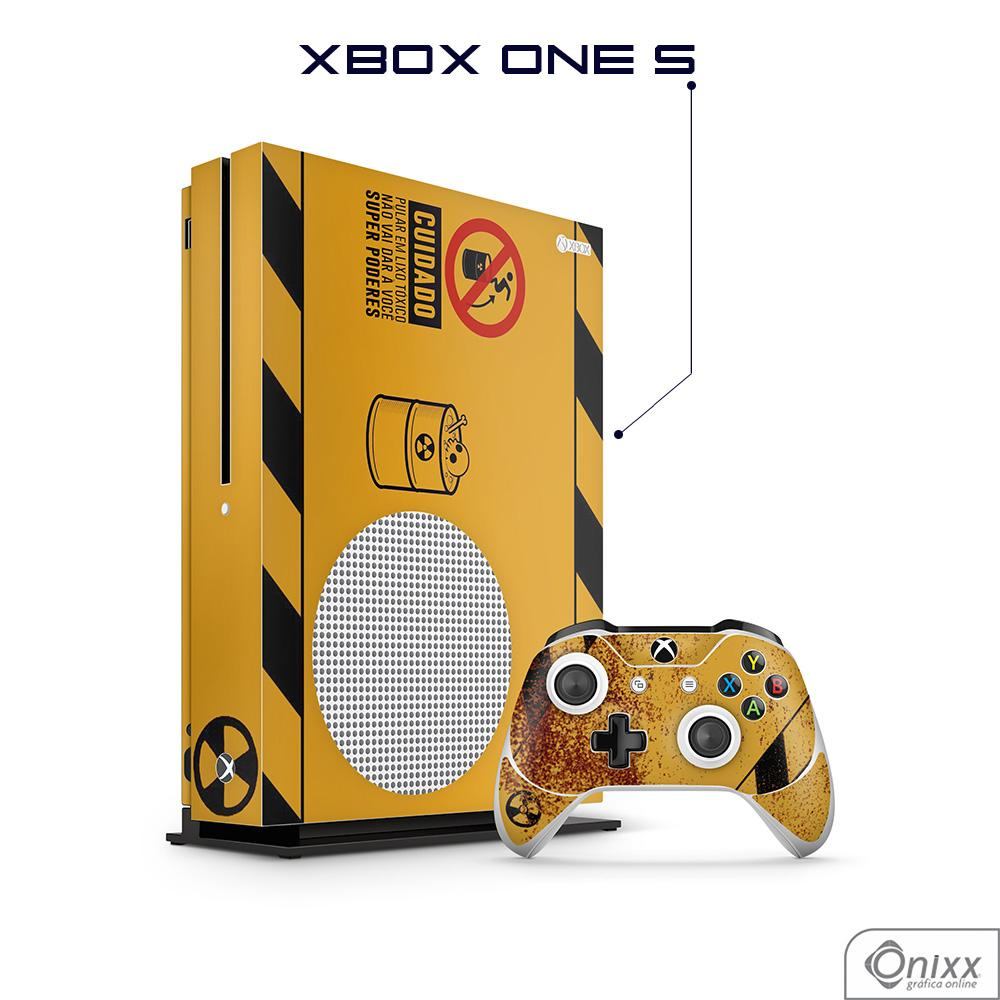 Skin Game Adesiva XBOX ONE S Não Pule no Lixo Radioativo