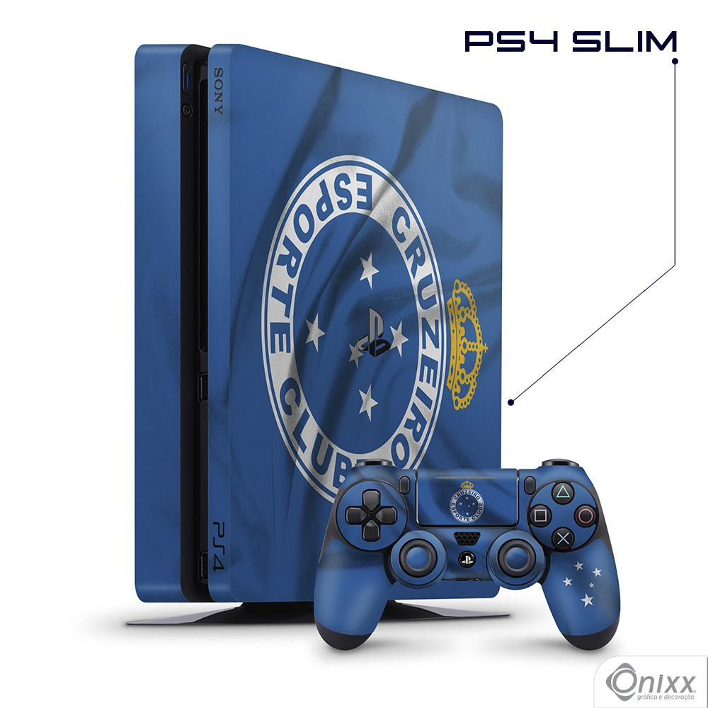 Skin Game Adesiva PS4 SLIM Flag Cruzeiro