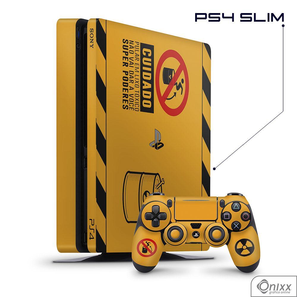 Skin Game Adesiva PS4 SLIM Não Pule No Lixo Radioativo