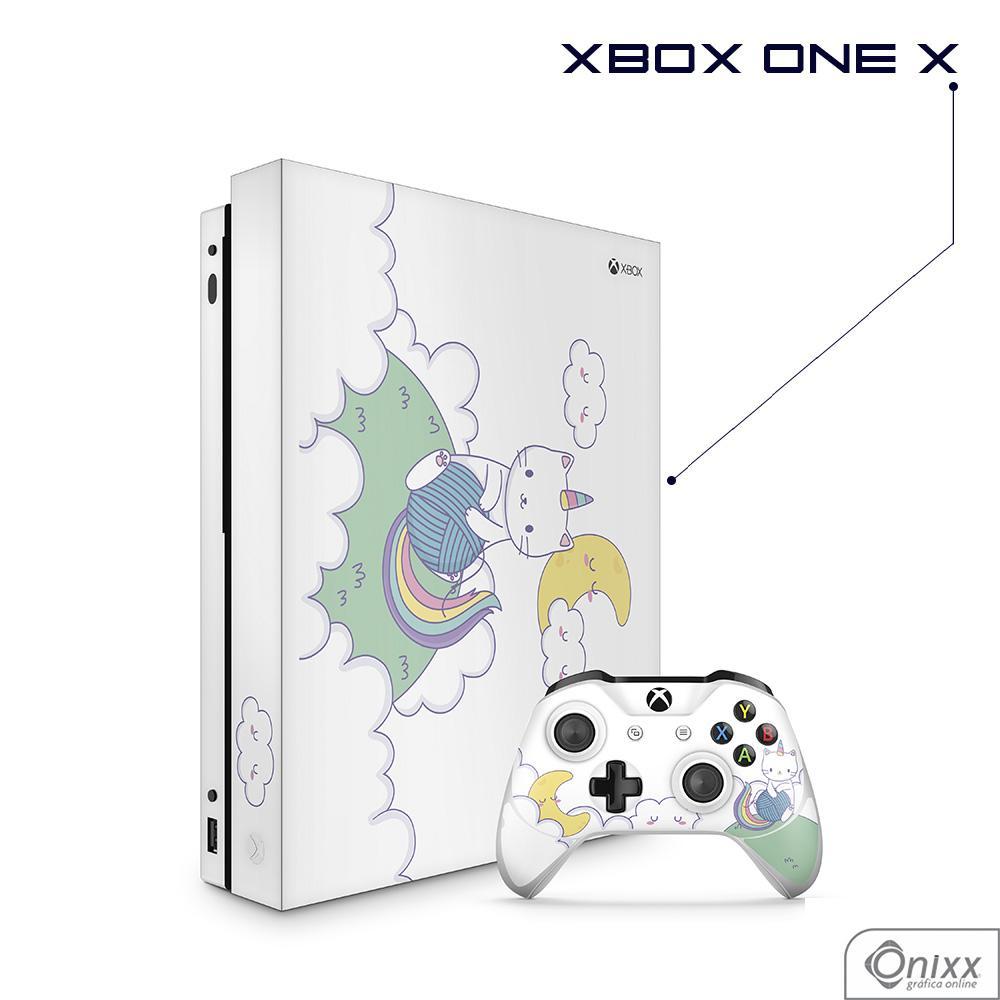 Skin Game Adesiva XBOX ONE X Gatinha Unicórnio