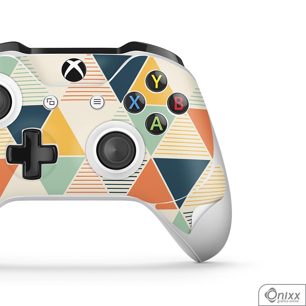 Skin Game Adesiva XBOX ONE JOYSTICKS Triângulos Coloridos