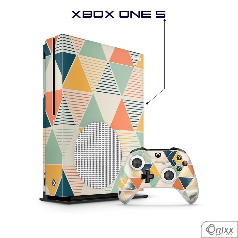 Skin Game Adesiva XBOX ONE S Triângulos Coloridos