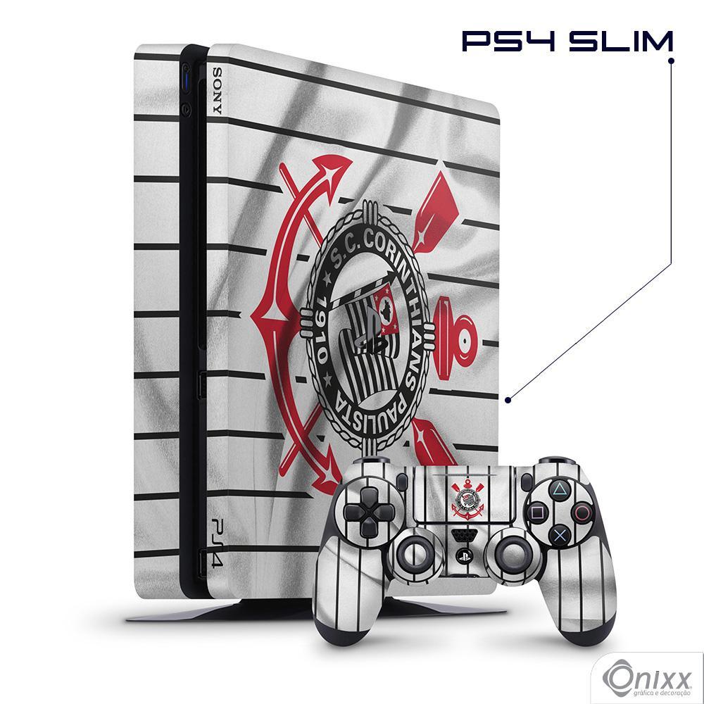 Skin Game Adesiva PS4 SLIM Flag Corinthians