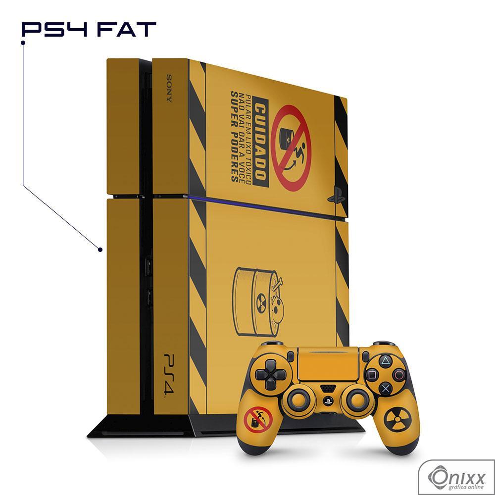 Skin Game Adesiva PS4 FAT Não Pule No Lixo Radioativo