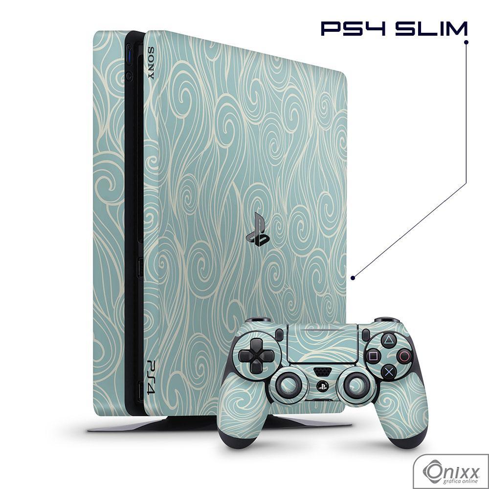 Skin Game Adesiva PS4 SLIM Light Blue Waves