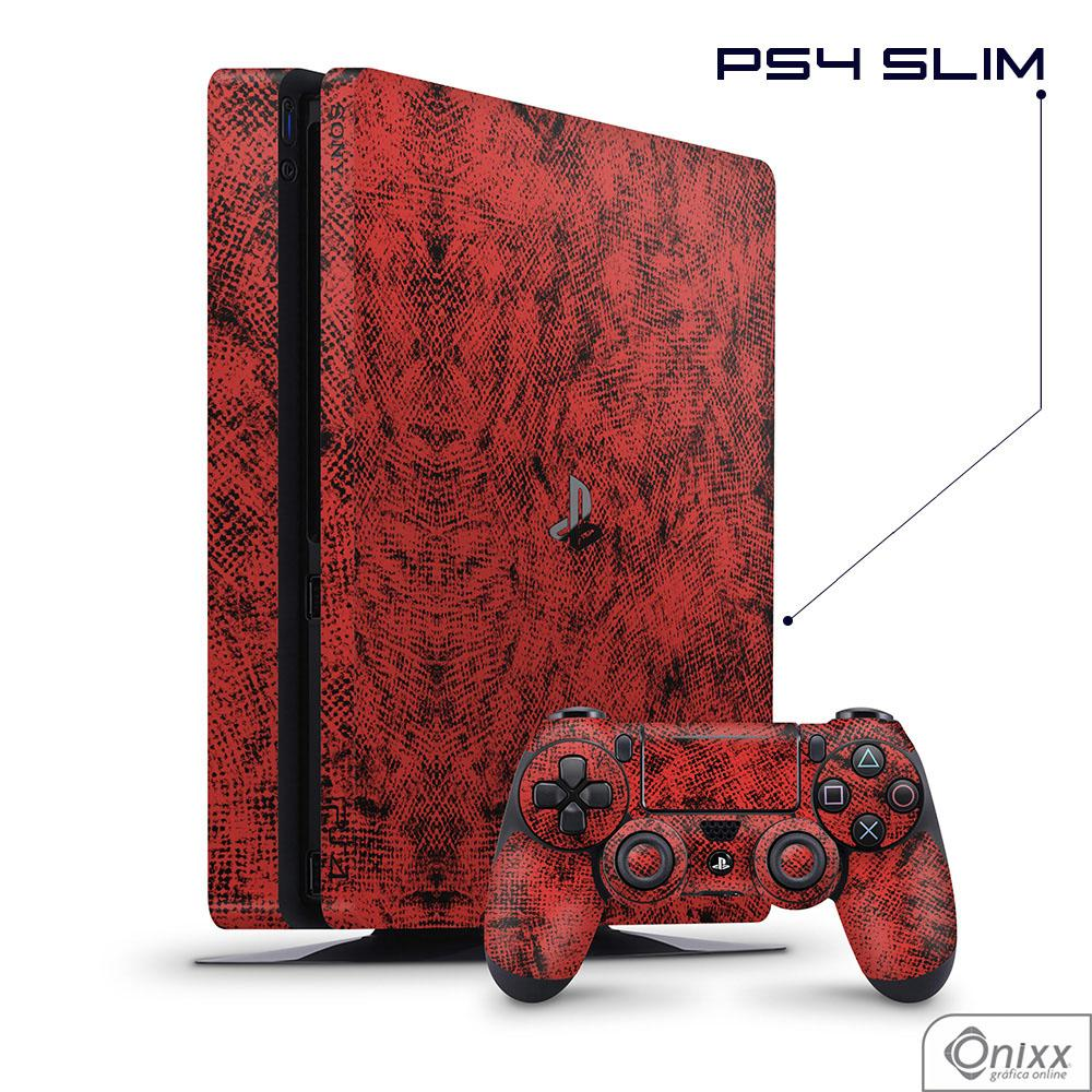 Skin Game Adesiva PS4 SLIM Canvas Red