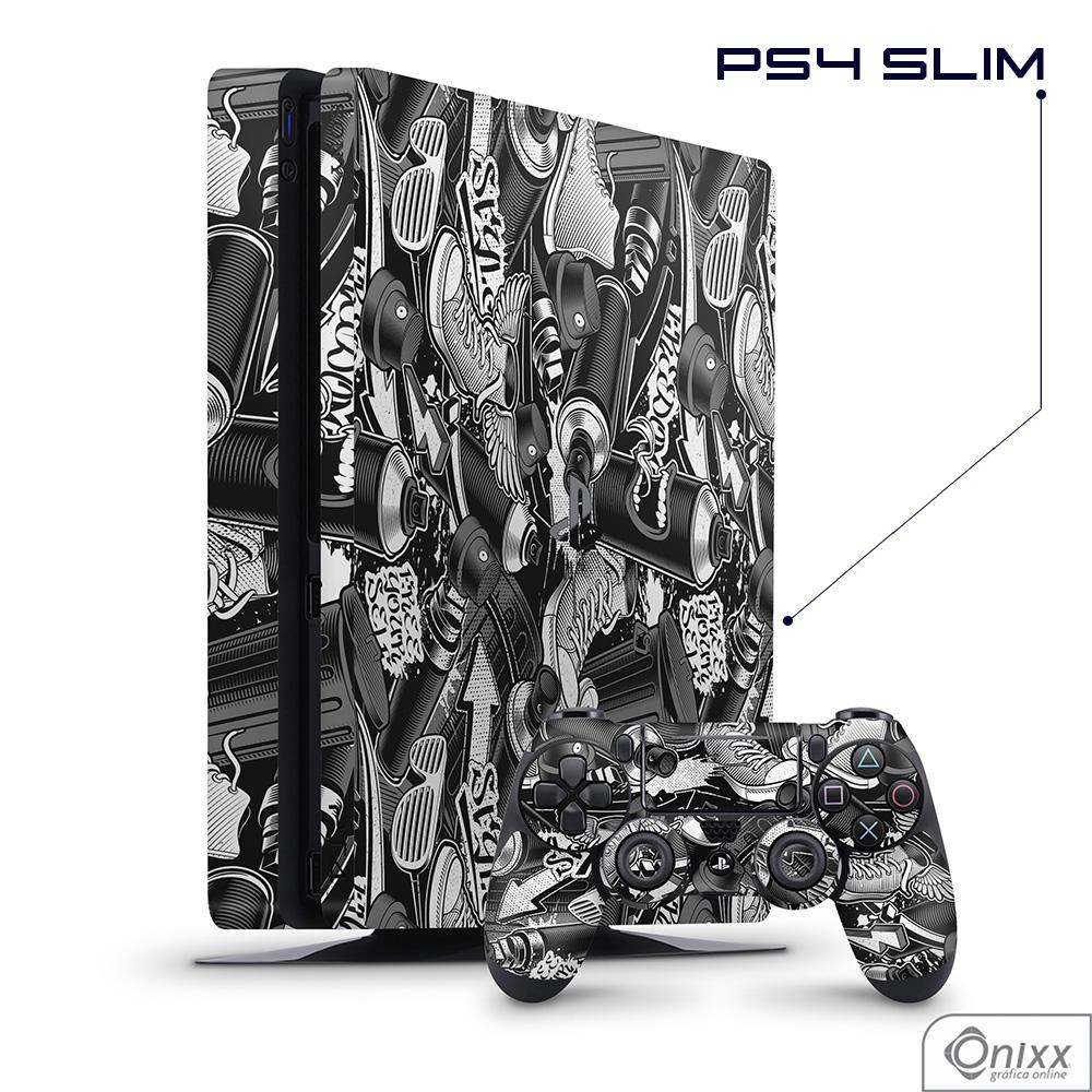 Skin Game Adesiva PS4 SLIM Estilo Grafite