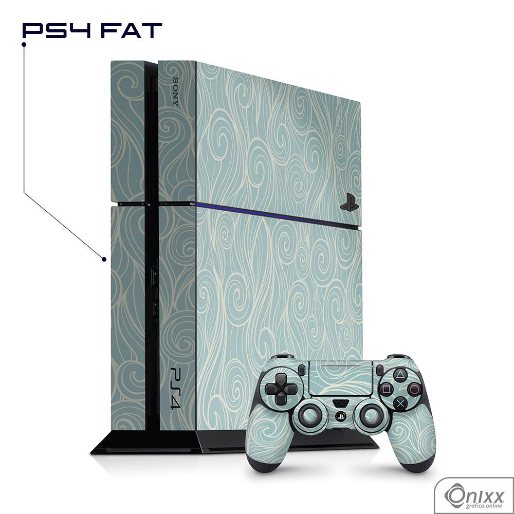Skin Game Adesiva PS4 FAT Light Blue Waves