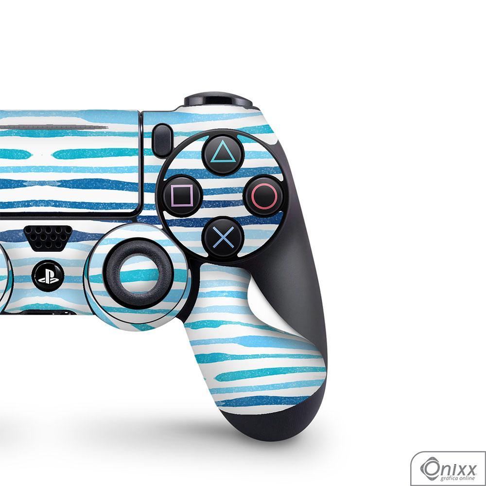 Skin Game Adesiva PS4 JOYSTICKS Blue Stripes
