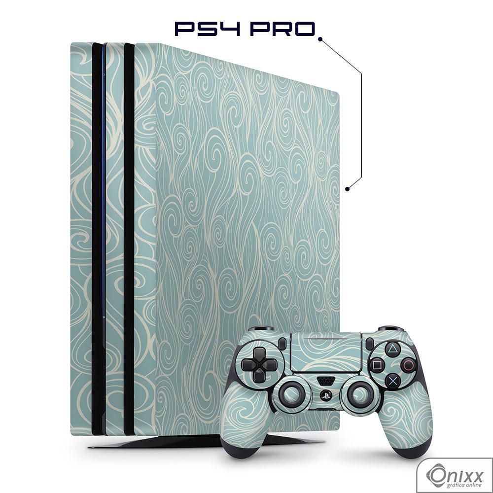 Skin Game Adesiva PS4 PRO Light Blue Waves