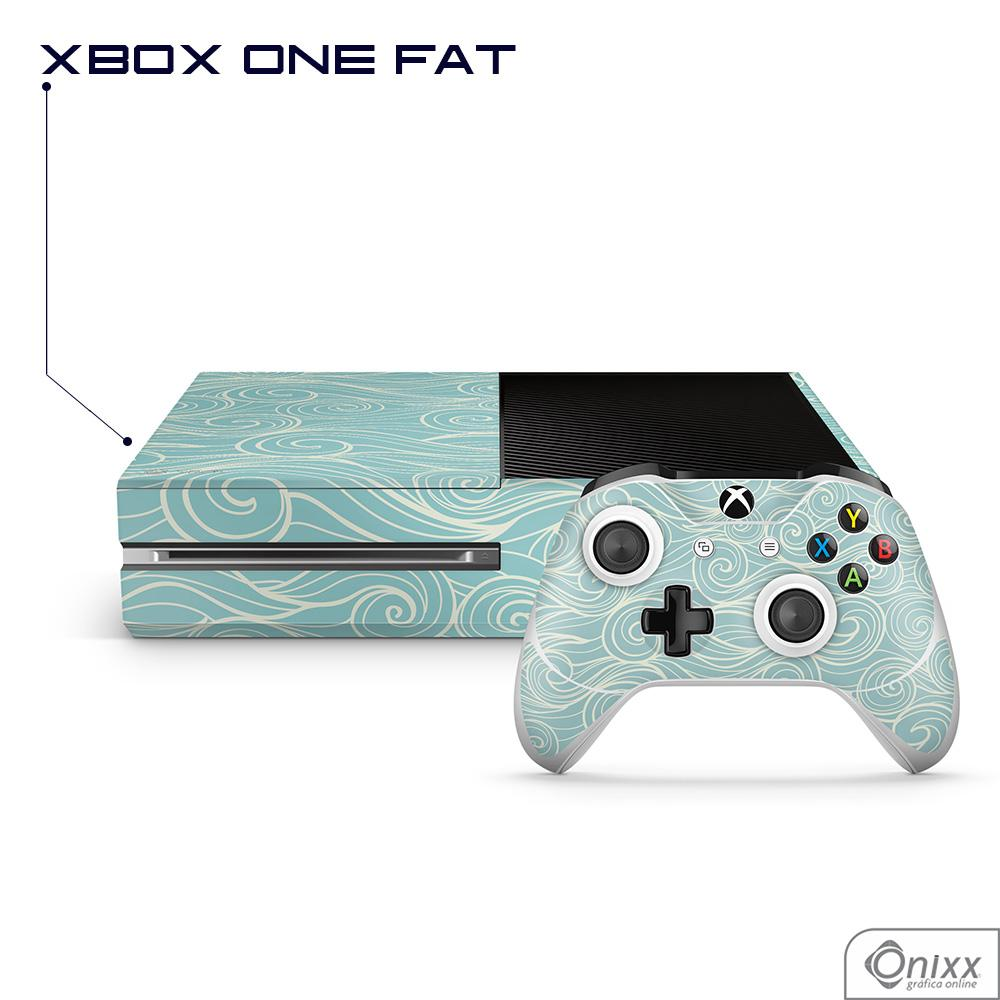 Skin Game Adesiva XBOX ONE FAT Light Blues Waves