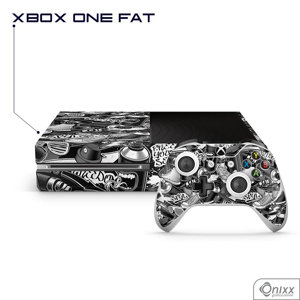 Skin Game Adesiva XBOX ONE FAT Estilo Gráfite