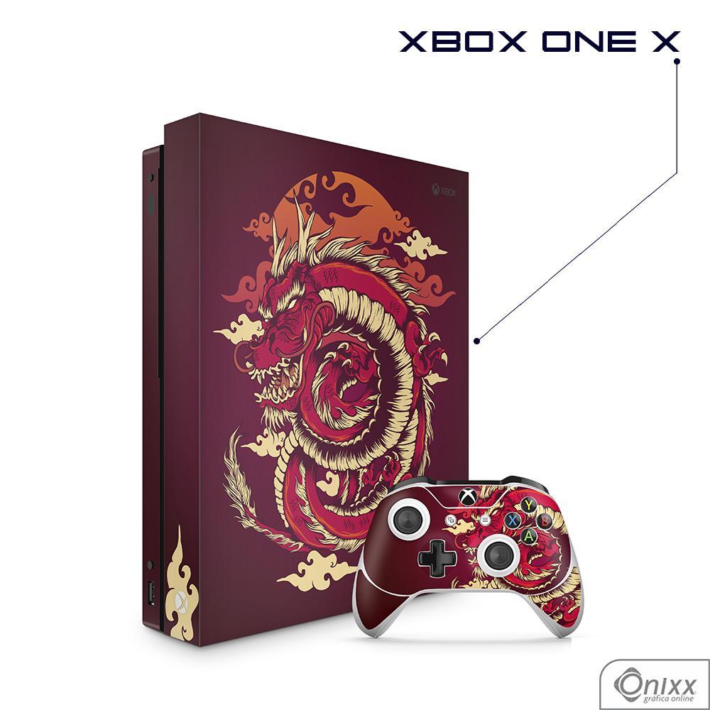 Skin Game Adesiva XBOX ONE X Dragão Vermelho