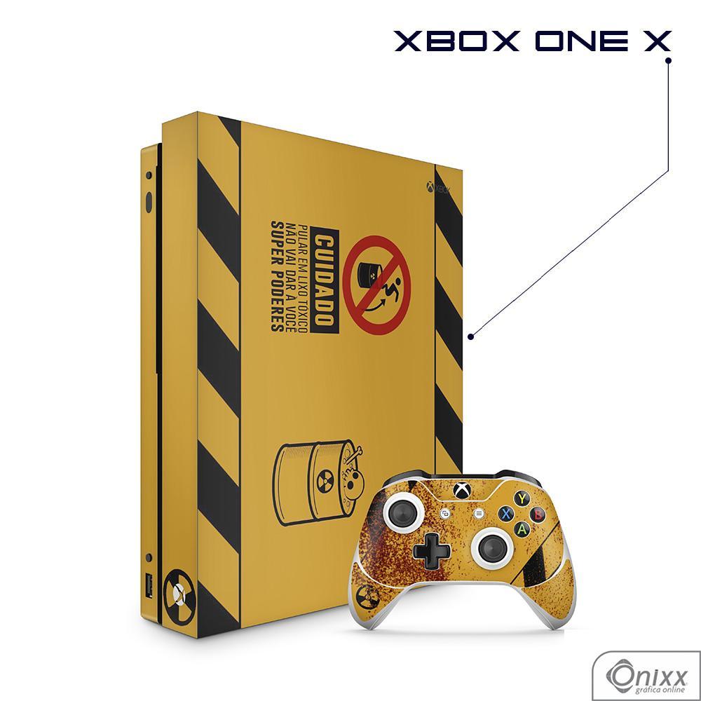 Skin Game Adesiva XBOX ONE X Não Pule no Lixo Radioativo