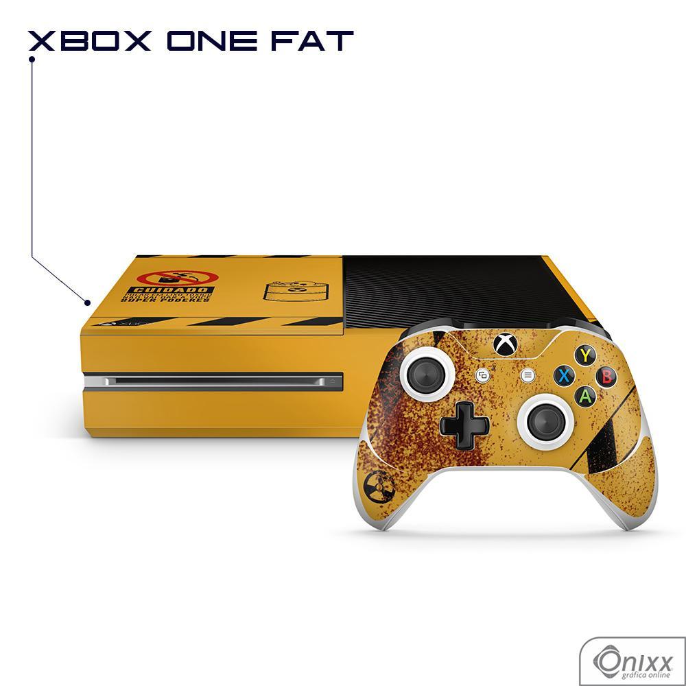 Skin Game Adesiva XBOX ONE FAT Não Pule no Lixo Radioativo