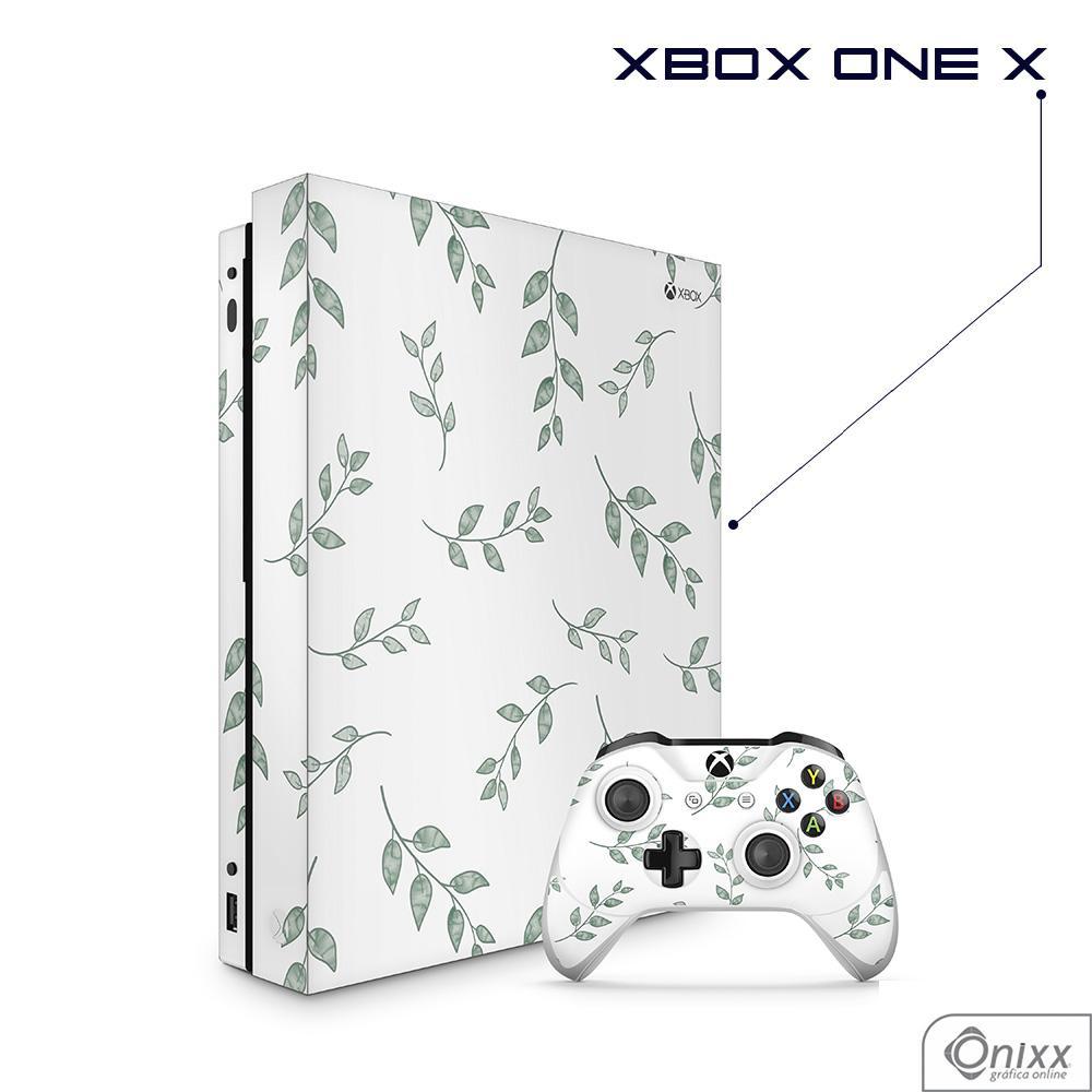 Skin Game Adesiva XBOX ONE X Galhos e Folhas