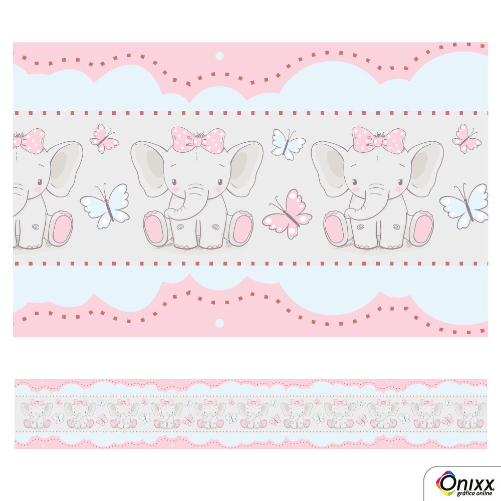 Faixa Decorativa Elefante Rosa