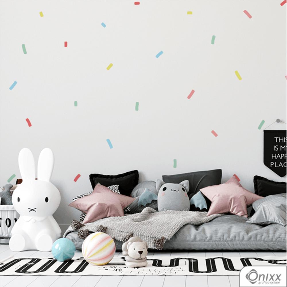 Kit de Adesivos Confetes Color