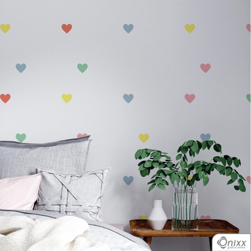 Kit de Adesivos Corações Color