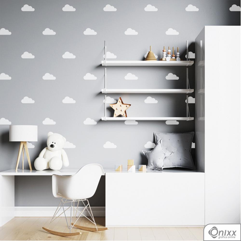 Kit de Adesivos Nuvens