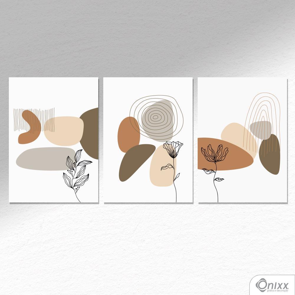Kit De Placas Decorativas Flor Do Deserto A4