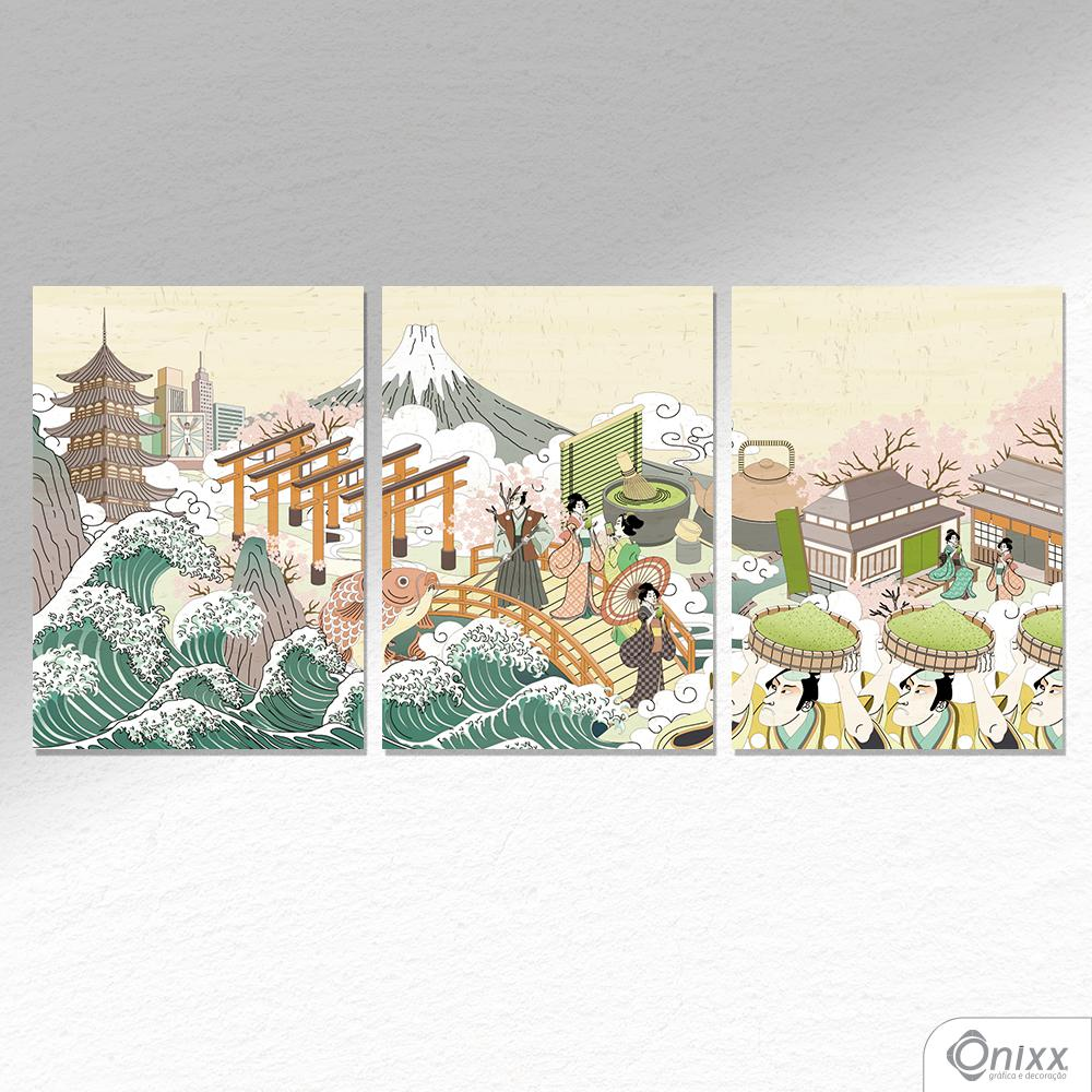 Kit De Placas Decorativas Japan A4