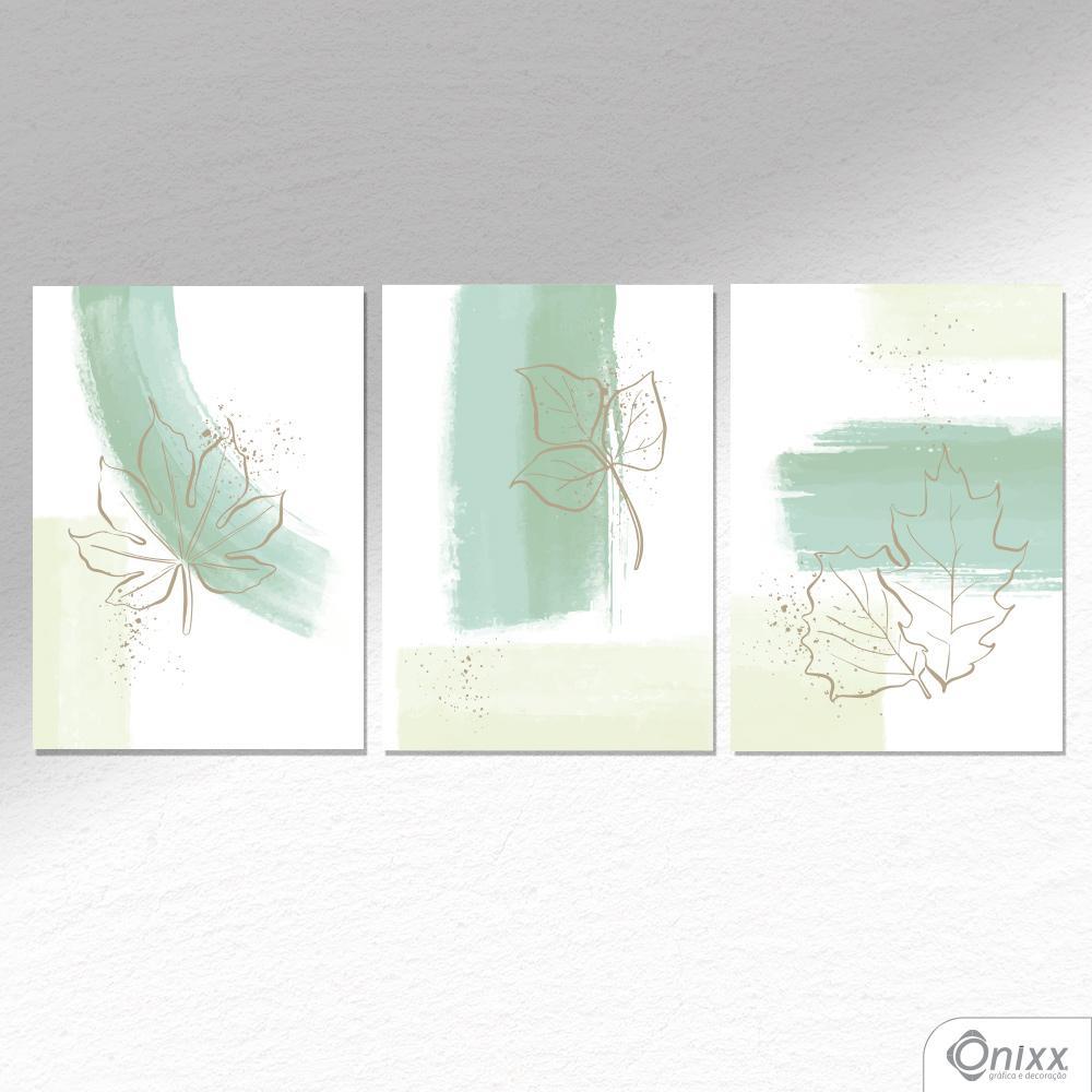 Kit De Placas Decorativas Leaf Movement A4