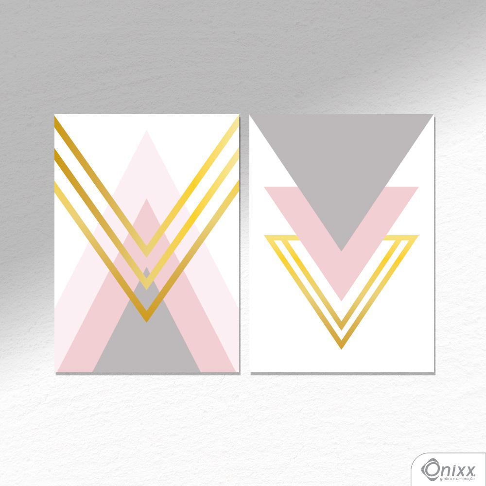 Kit De Placas Decorativas Rosê A4