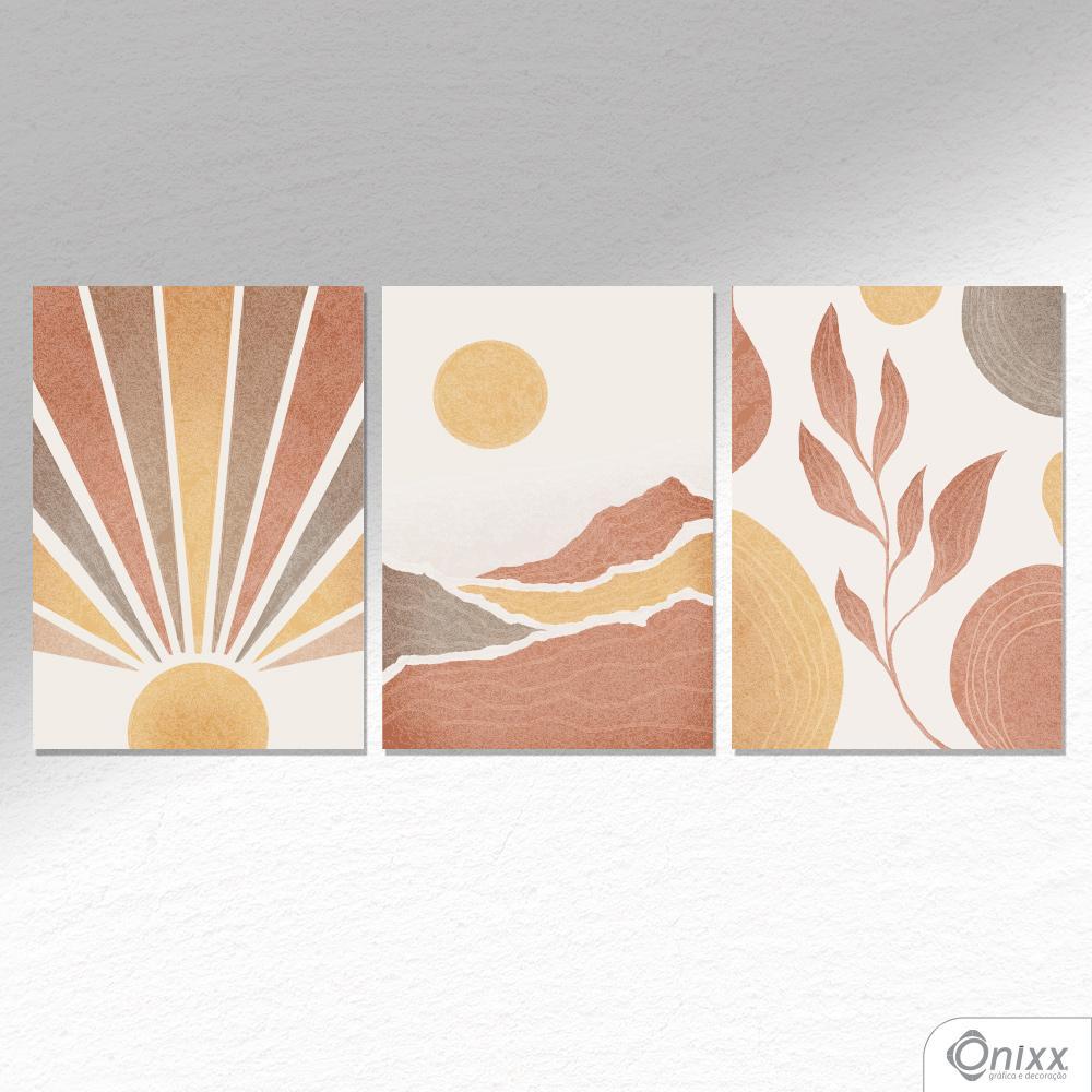 Kit De Placas Decorativas Terrosos A4