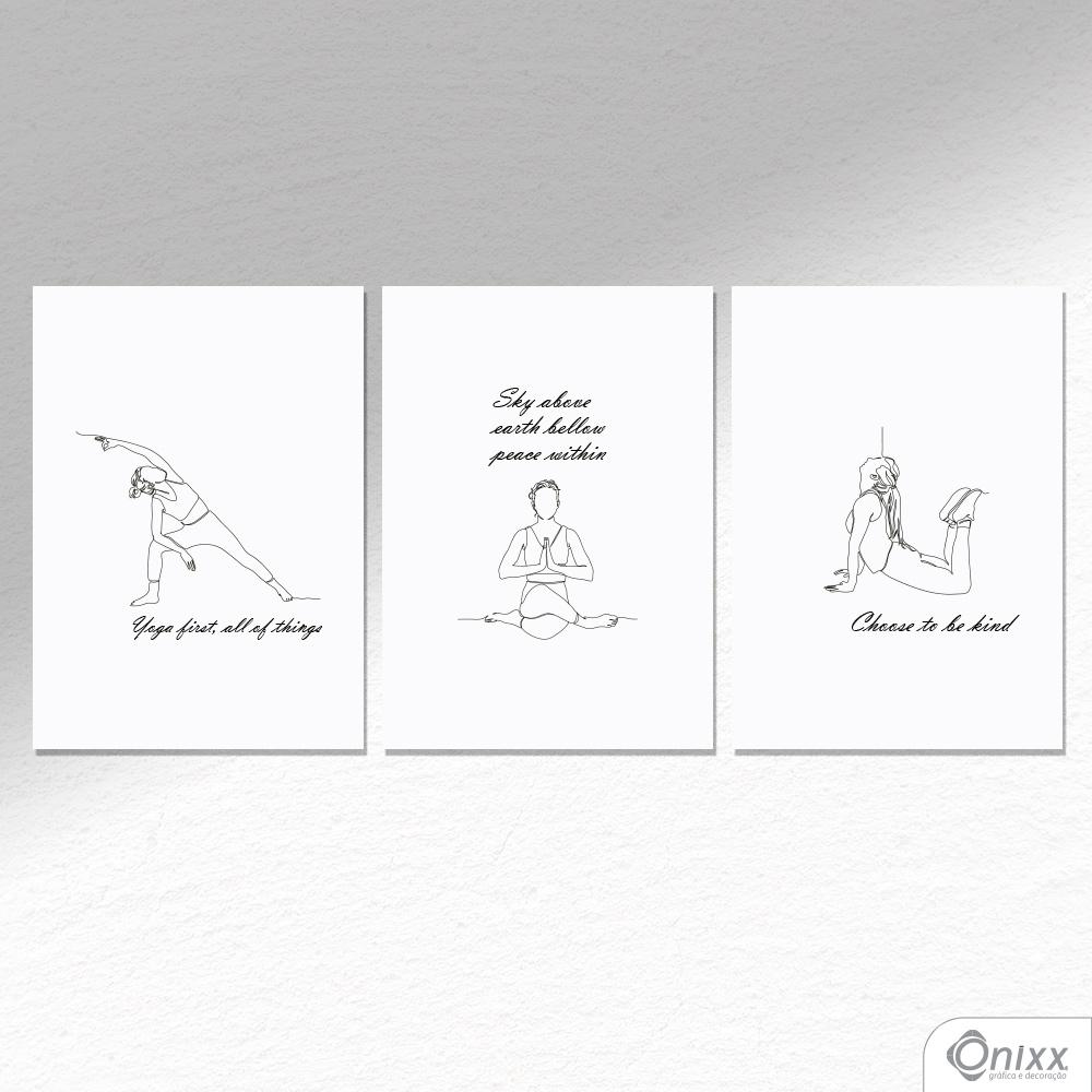 Kit De Placas Decorativas Yoga A4