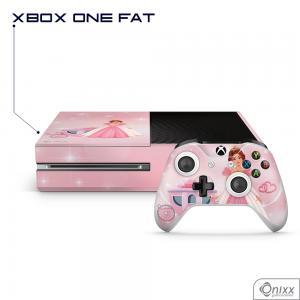 Skin Game Adesiva XBOX ONE FAT Princesa Tema Rosa