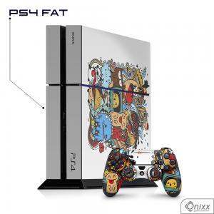 Skin Game Adesiva PS4 FAT Crazy Beings Adesivo Vinil Americano 10µ  4x0 Brilho Corte Eletrônico
