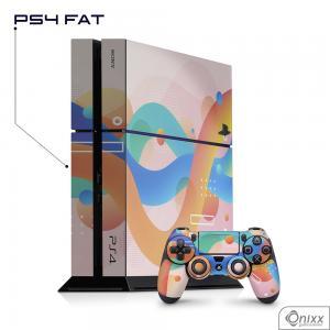 Skin Game Adesiva PS4 FAT Summer Colors Adesivo Vinil Americano 10µ  4x0 Brilho Corte Eletrônico