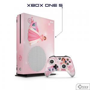 Skin Game Adesiva XBOX ONE S Princesa Tema Rosa