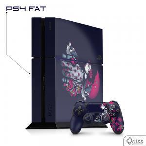 Skin Game Adesiva PS4 FAT Gueixa Adesivo Vinil Americano 10µ  4x0 Brilho Corte Eletrônico