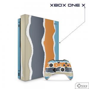 Skin Game Adesiva XBOX ONE X Cool Stripes Adesivo Vinil Americano 10µ  4x0 Brilho Corte Eletrônico