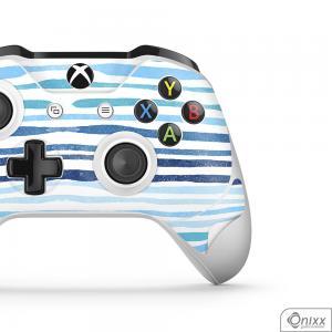 Skin Game Adesiva XBOX ONE JOYSTICKS Blue Stripes Adesivo Vinil Americano 10µ  4x0 Brilho Corte Eletrônico