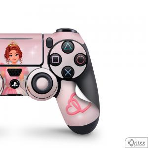 Skin Game Adesiva PS4 JOYSTICKS Princesa Tema Rosa