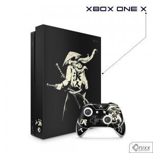 Skin Game Adesiva XBOX ONE X Invincible Samurai Adesivo Vinil Americano 10µ  4x0 Brilho Corte Eletrônico