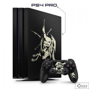 Skin Game Adesiva PS4 PRO Invincible Samurai Adesivo Vinil Americano 10µ  4x0 Brilho Corte Eletrônico