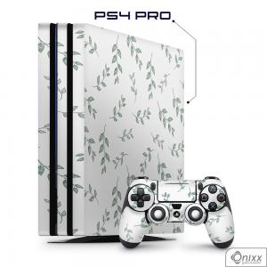 Skin Game Adesiva PS4 PRO Galhos e Folhas Adesivo Vinil Americano 10µ  4x0 Brilho Corte Eletrônico