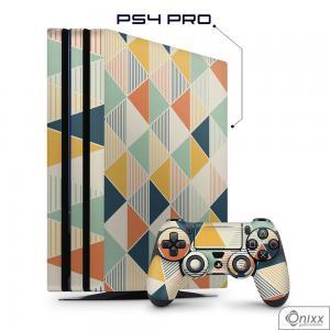 Skin Game Adesiva PS4 PRO Triângulos Coloridos
