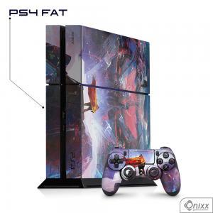 Skin Game Adesiva PS4 FAT Futuristic Aventure Adesivo Vinil Americano 10µ  4x0 Brilho Corte Eletrônico