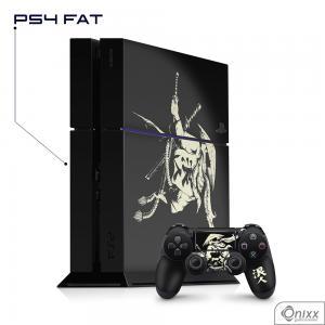 Skin Game Adesiva PS4 FAT Invincible Samurai Adesivo Vinil Americano 10µ  4x0 Brilho Corte Eletrônico