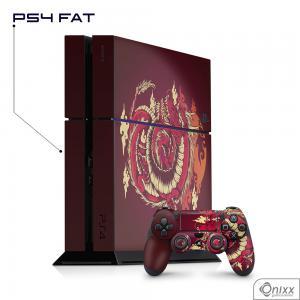 Skin Game Adesiva PS4 FAT Dragão Vermelho