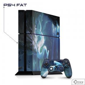 Skin Game Adesiva PS4 FAT White Dragon Adesivo Vinil Americano 10µ  4x0 Brilho Corte Eletrônico