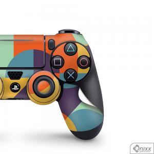 Skin Game Adesiva PS4 JOYSTICKS Color Pop Adesivo Vinil Americano 10µ  4x0 Brilho Corte Eletrônico