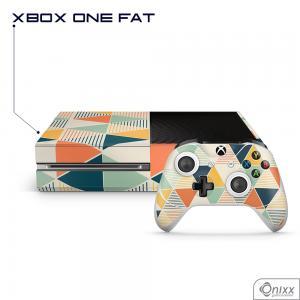 Skin Game Adesiva XBOX ONE FAT Triângulos Coloridos