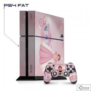 Skin Game Adesiva PS4 FAT Princesa Tema Rosa